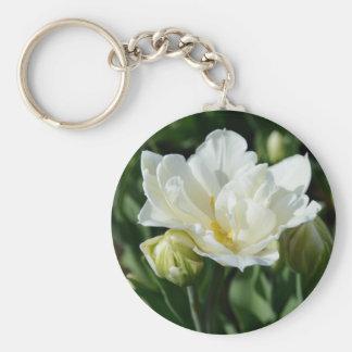 White Tulip Keychain