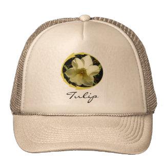 White Tulip Mesh Hat