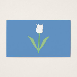 White Tulip on Blue. Business Card