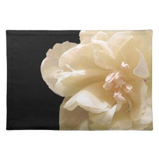 White tulip placemat