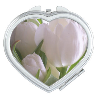White Tulips 2 Mirrors For Makeup