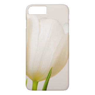 White tulips against a white background, iPhone 8 plus/7 plus case