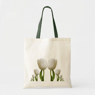 White Tulips Budget Tote Bag