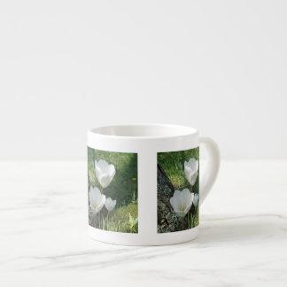 White Tulips Flower Trio Espresso Mug