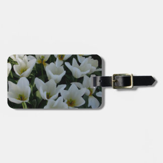 White Tulips Tag For Luggage