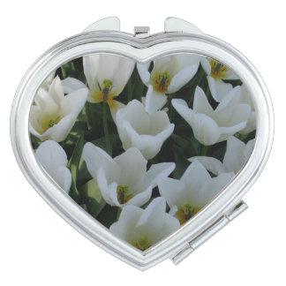 White Tulips Makeup Mirrors