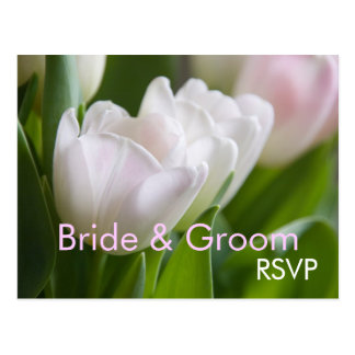 White Tulips • RSVP Postcard