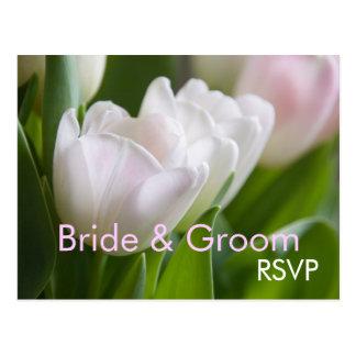 White Tulips • RSVP Postcard