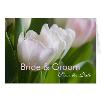 White Tulips • Save the Date Card