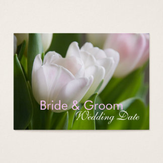 White Tulips • Save the Date Mini Card