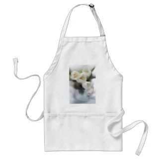 White Tulips Standard Apron