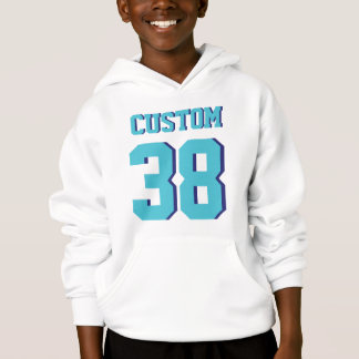 White & Turquoise Kids | Sports Football Jersey