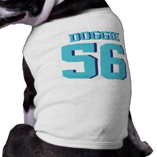 White & Turquoise Pets   Sports Jersey Design Sleeveless Dog Shirt