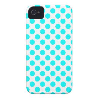 White Turquoise Polka Dot - iPhone 4/4S Case
