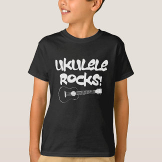 White Ukulele Rocks T-Shirt