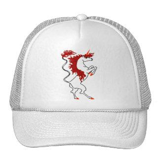 White Unicorn Fiery Red Hair Trucker Hat