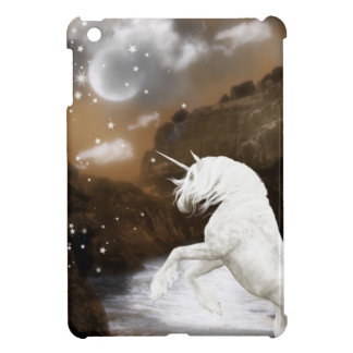 White unicorn iPad mini cover