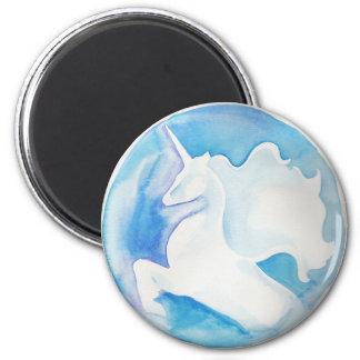 White Unicorn Magnet
