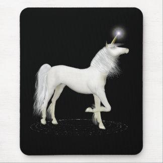 White Unicorn Mouse Mat