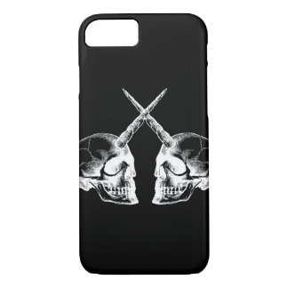 White Unicorn Skulls iPhone 8/7 Case