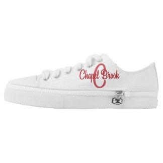 white unisex chapel brook canvas shoes printed shoes