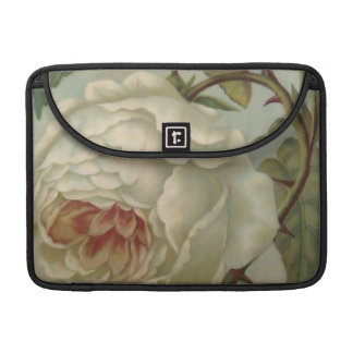"White Victorian Rose/Floral MacBook Pro 13"" Sleeve"