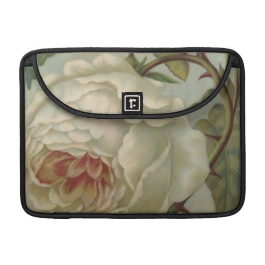 """White Victorian Rose/Floral MacBook Pro 13"""" Sleeve Sleeves For MacBook Pro"""