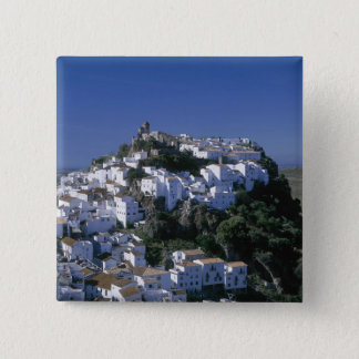 White Village of Casares, Andalusia, Spain 15 Cm Square Badge