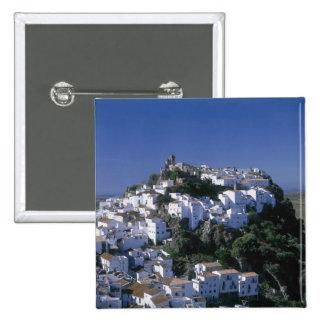 White Village of Casares, Andalusia, Spain 15 Cm Square Badge