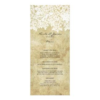 White Vintage Country Wedding Menu Custom Announcements