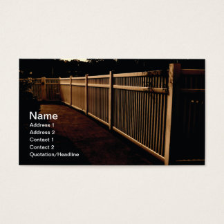 white vinyl outdoor fence business card