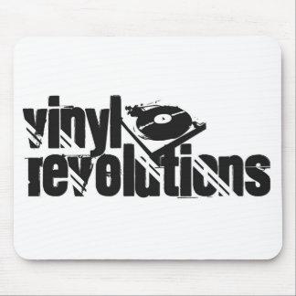 White Vinyl Revolutions Mousepad