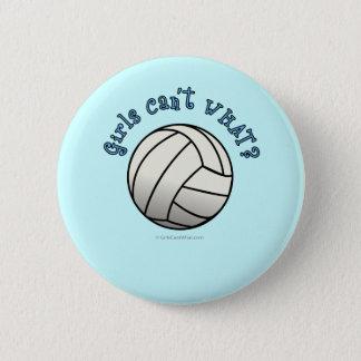 White Volleyball Team 6 Cm Round Badge