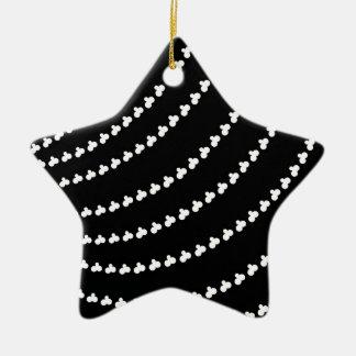 White Vortex Christmas Ornament