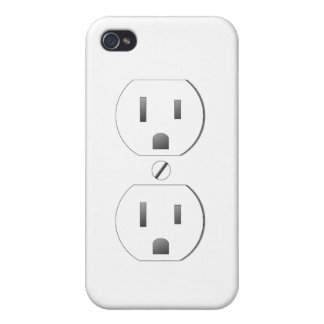 White Wall Outlet Design iPhone 4/4s iPhone 4/4S Cover