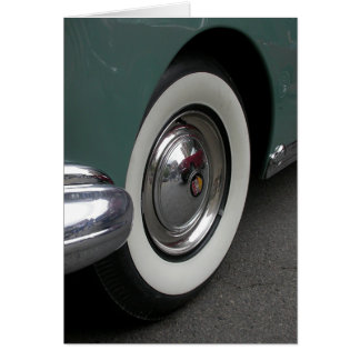 White Wall Tire Greeting Card