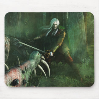 White Warrior Mouse Pad
