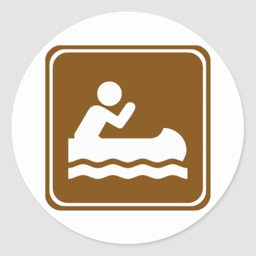 White Water Canoeing  Highway Sign Stickers