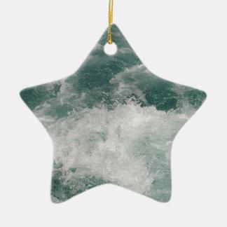 White Water Ceramic Star Decoration