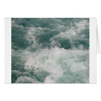 White Water Greeting Card