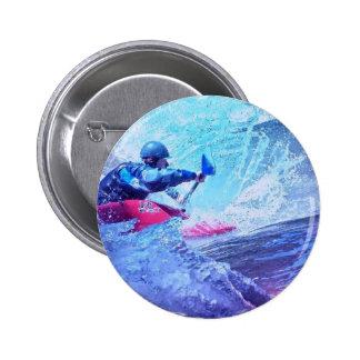 White Water Kayaker Pins