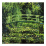 White Water Lilies by Monet, Vintage Impressionism Posters