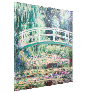 White Water Lilies | Monet Stretched Canvas Prints