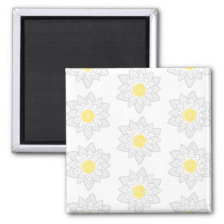 White Water Lilies. Square Magnet