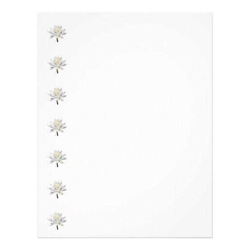 White Water Lily in Sunshine 21.5 Cm X 28 Cm Flyer