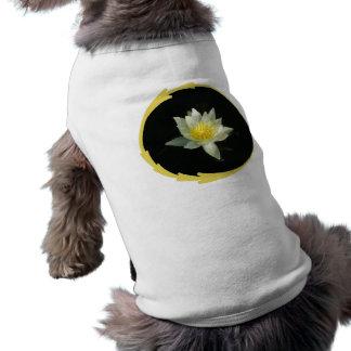 White Water Lily/Lotus Dog T-shirt