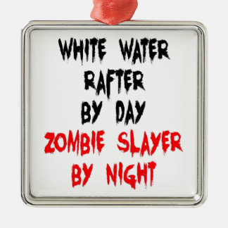 White Water Rafter Zombie Joke Christmas Ornament