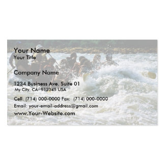 White Water Rafting Business Card Templates