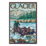 White Water Rafting - Glacier National Park, MT Poster