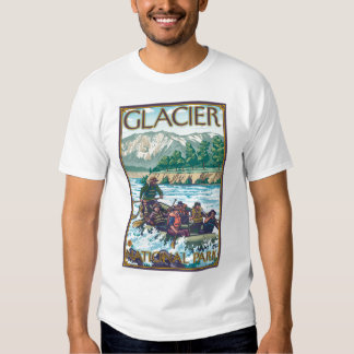 White Water Rafting - Glacier National Park, MT T-shirts